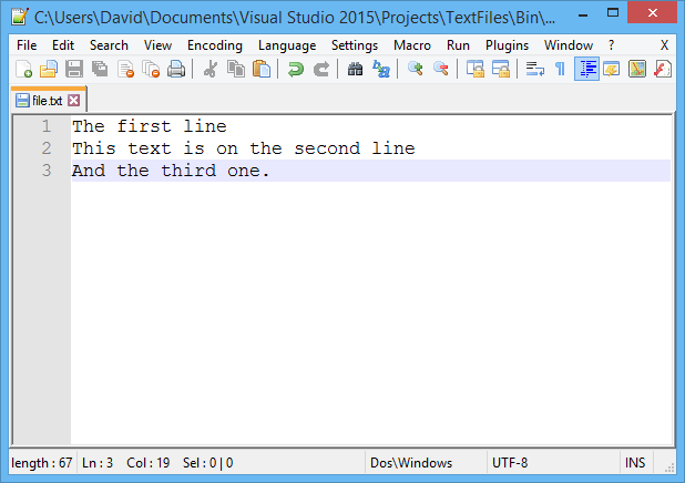Lesson 3 - Working with text files in C#  NET