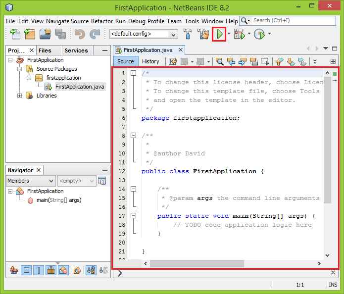 Lesson 2 - NetBeans IDE and your first console application