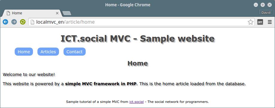 Codeigniter mvc framework.