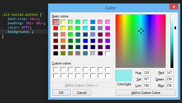Sublime Text Colorpicker