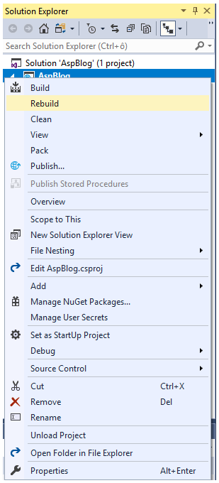 Lesson 6 - Scaffolding and Entity Framework in ASP NET Core MVC