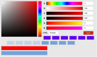 Colorpicker - HTML and CSS colors