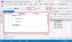 Visual Studio and your first VB.NET console application