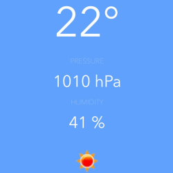 iOS weather forecast app - GUI and basic classes
